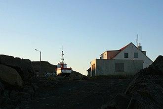 Blönduós - Image: A boat in drydock in Blönduós
