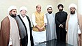 A delegation led by Maulana Kalbe Rushaid Rizvi, Member, All India Muslim Personal Law Board, calling on the Union Home Minister, Shri Rajnath Singh, in New Delhi on April 05, 2016 (1).jpg