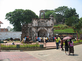 Afonso de Albuquerque - The surviving gate of the A Famosa Portuguese fortress in Malacca