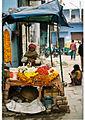 A flower garland shop in Varanasi.jpg