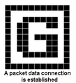 A packet data connection is established.PNG