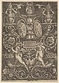 A panel of ornament, putti standing on cornucopia in lower section MET DP824499.jpg