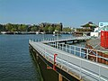 A photo of the temporary long footbridge, aside from Oosterdokseiland in Amsterdam, 2005.jpg