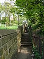 A steep footpath to the right of St Thomas' Church - geograph.org.uk - 416834.jpg