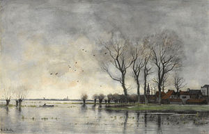 Théophile de Bock - A town on the river Vecht