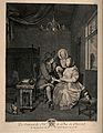 A young male physician stirring a medicinal mixture for a fe Wellcome V0016037.jpg