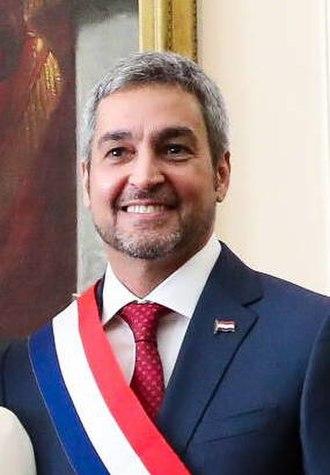 President of Paraguay - Image: Abdo Benítez con banda