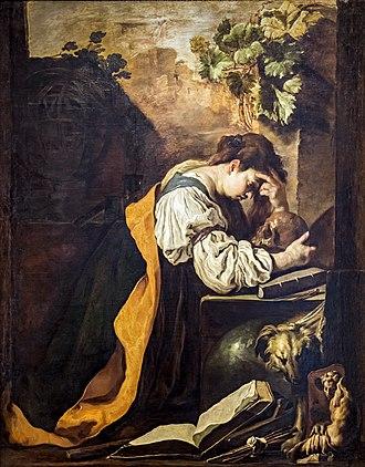 Domenico Fetti - Magdalene in Meditation (Accademia, Venice)