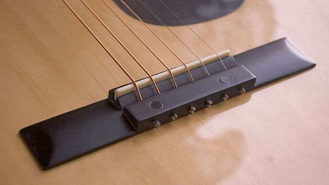 670px Acoustic guitar bridge A Great Guide to Learn Acoustic Guitar