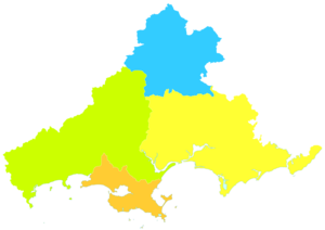 Shanwei - Image: Administrative Division Shanwei