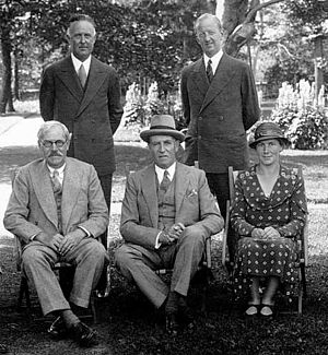 David Murray Anderson - Anderson entertaining Ramsay MacDonald (seated, left), Prime Minister of the United Kingdom, at Government House in August 1934.