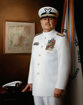 Michele Rushworth - Admiral Thad Allen official U.S. Coast Guard portrait painting by Michele Rushworth