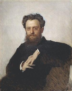 Adrian Prakhov - Adrian Prakhov (1879)  Portrait by Ivan Kramskoi.