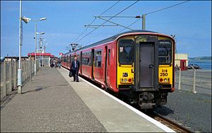 British Rail Class 318 - Class 318 in original orange and black Strathclyde Transport livery