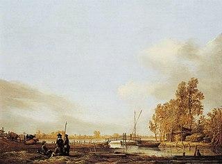 River Landscape with Bridge