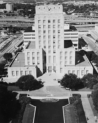 Houston City Hall - Image: Aerial view of Houston City Hall 01