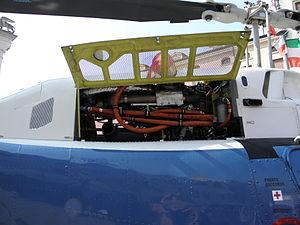 Agusta-Bell AB-206B JetRanger III, engine (PS-67) Polizia di Stato, Italy.JPG