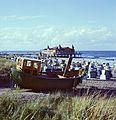 Ahlbeck Strand Fischerboot 1984.jpg