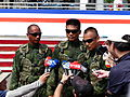 Airborne Special Operations Forces Soldiers Interviewing by Mass Media 20131012a.jpg