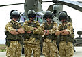 Aircrew from a CH47 Chinook Helicopter, part of 27 Squadron RAF currently operating at Bagram Airbase, Afghanistan. 06-05-2002. MOD 45140352.jpg