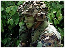 Il mimetismo spinto di un U.S. Air Force Tactical Air Controller (Corea del Sud, giugno 2003.)