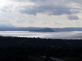 Akrotiri, Crete - Image: Akrotiri Blick aufs Meer