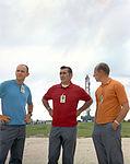 Al Bean (left), Dick Gordon, and Pete Conrad during the Apollo 12 rollout.jpg