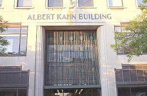 Albert Kahn Associates - Albert Kahn Building front entrance