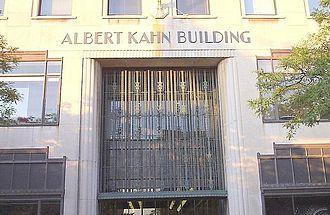 Albert Kahn Associates - Albert Kahn Building front entrance