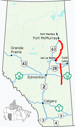 Map Of St Paul Alberta Canada Alberta Highway 881   Wikipedia