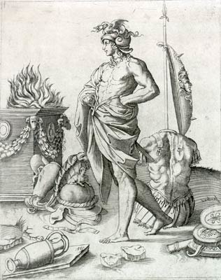 Alcibiade - Agostino Veneziano (ca. 1490-1540)