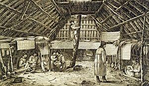 Les Aléoutes, ancêtres Amérindiens dans AMERINDIENS 300px-AleuWinterHouse