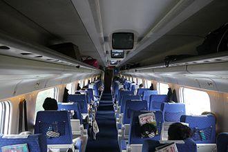 Alfa Pendular - First class carriage on the Oporto - Lisbon service.