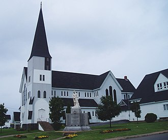 Springhill, Nova Scotia - All Saints Anglican Church in Springhill. It was designed by William Critchlow Harris.