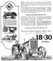 Allis-Chalmers tractor advert in Farm Mechanics May 1921 v5 n1 p75.png