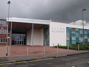 Alloa Academy - Image: Alloa Academy Main Entrance