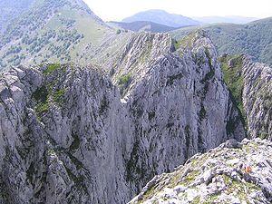 Basque Mountains - Alluitz, typical limestone mountain of the Basque range.