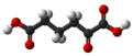 Ball and stick model of α-ketoadipic acid