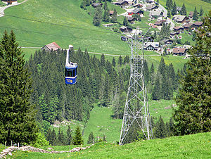 Alpthal - The Brunni to Holzegg cable car
