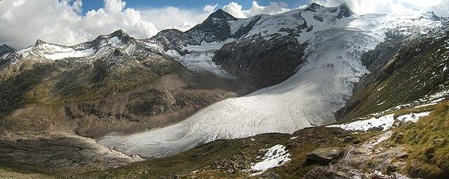 Horský ľadovec v Rakúsku