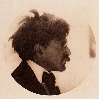 Camera Work - Alfred Stieglitz, by Alvin Langdon Coburn. Published in Camera Work No 21, 1908