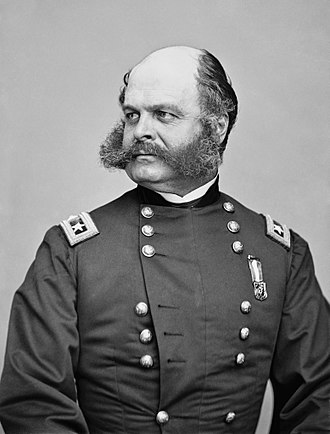 Ambrose Burnside - General Ambrose Burnside. Photo by Mathew Brady