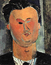 Pierre Reverdy (by Modigliani, 1915)
