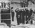 Amerikaanse Kruiser Columbus in IJmuiden inspectie erewacht, Bestanddeelnr 903-5184.jpg