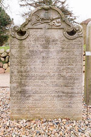 Talking Gravestones of Amrum - Gravestone of Hark Olufs – front side