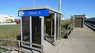Gilman, Illinois - Amtrak station in Gilman