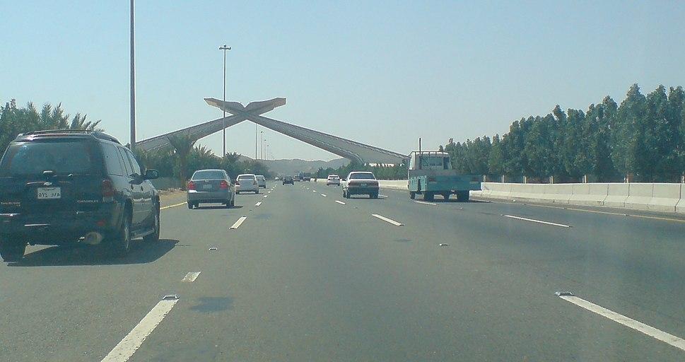 An Entrance of Mecca on Jeddah Highway
