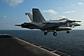 An F A-18F Super Hornet launches from USS John C. Stennis. (6678806237).jpg