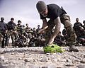 An adviser teaches Afghan National Army commandos about improvised explosive devices at Camp McCloskey, Afghanistan, April 1, 2012 120401-N-BV659-032.jpg