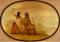 An old nayas indian his granddaughter and a boy.PNG